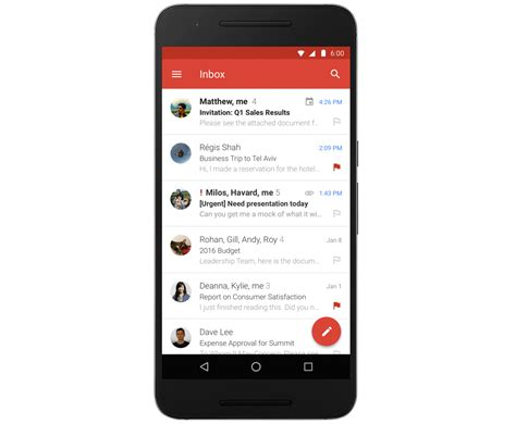 android app updates gmail for android app update brings microsoft exchange support phonedog