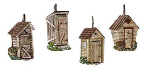 outhouse shower curtain hooks primitive home decors inc on walmart seller reviews