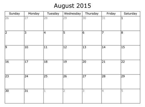 august  calendar  holidays template   blank august  calendar printable