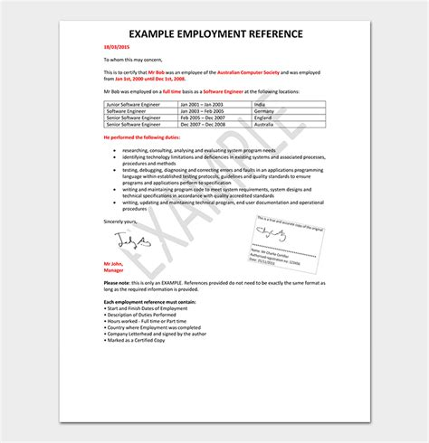 reference letter template word format
