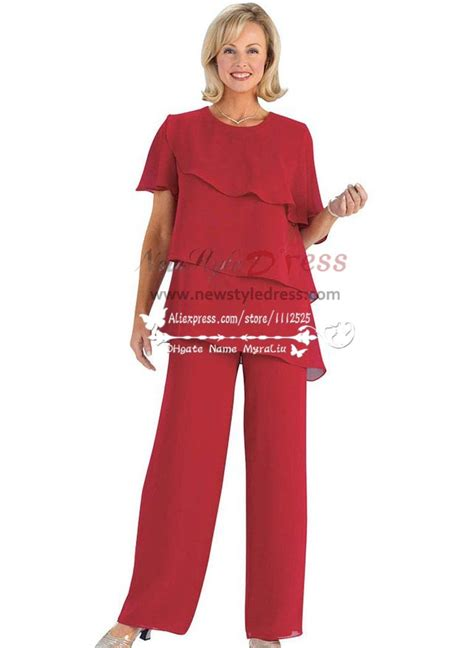 plus size dressy pant suits for weddings plus size red chiffon mother of the birde pant suits