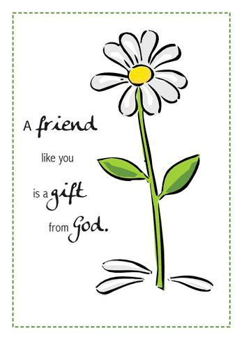 Friend, Gift From God Birthday Daisy. Free For Best