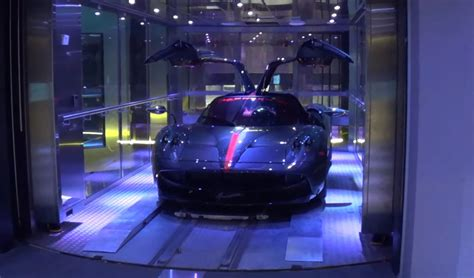 porsche design tower car elevator how supercars go up elevator to 40 million condo