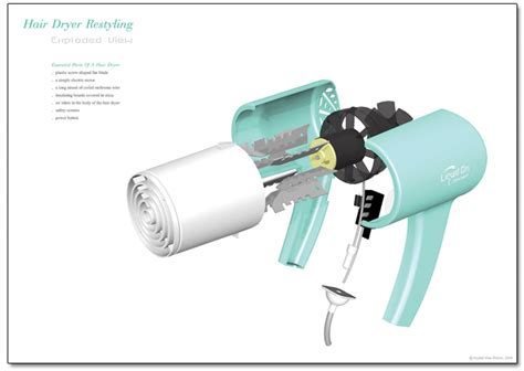 Hair Dryer Exploded View hair dryer restyling by wee at coroflot