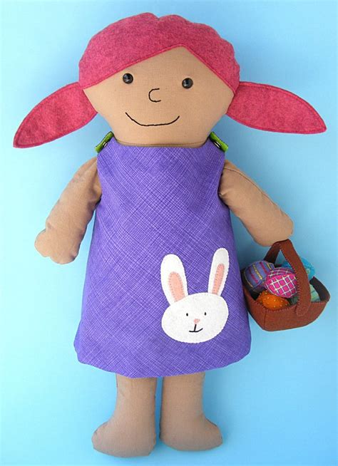 egg pattern clothes spring fling reversible doll dress pattern with eggs and
