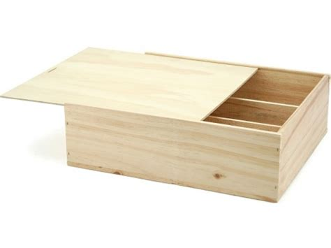wooden gift box 330x272x91 triple wine chagne