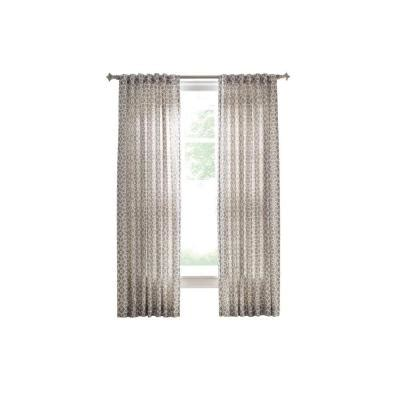 martha stewart living curtain rods martha stewart living cement gray full bloom back tab