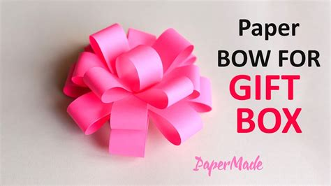 how to make bow flower for gift box origami diy
