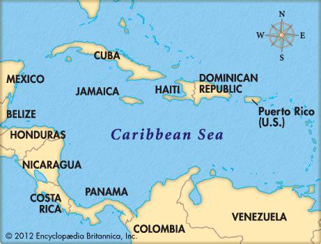caribbean sea map caribbean sea encyclopedia children s homework help dictionary britannica