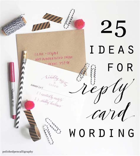 wedding invitation reply card etiquette getting married and need ideas on how to word your reply
