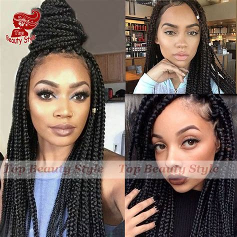 how to make box braid less heavy aliexpress com buy lace front box braid wigs with