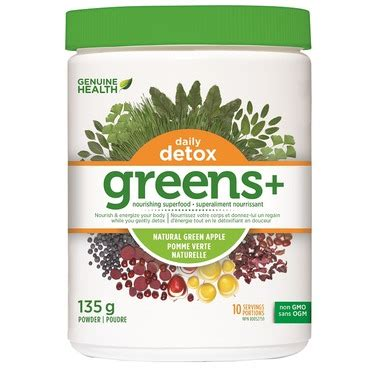 Genuine Health Daily Detox Review by Buy Genuine Health Greens Daily Detox At Well Ca Free