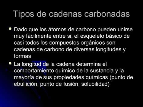 cadenas carbonadas lineales ejemplos tipos de cadenas carbonadas