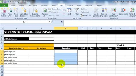 strength and conditioning templates eaf 47 create a multi week strength program template