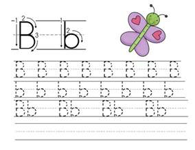 tracing letter b worksheets laptuoso