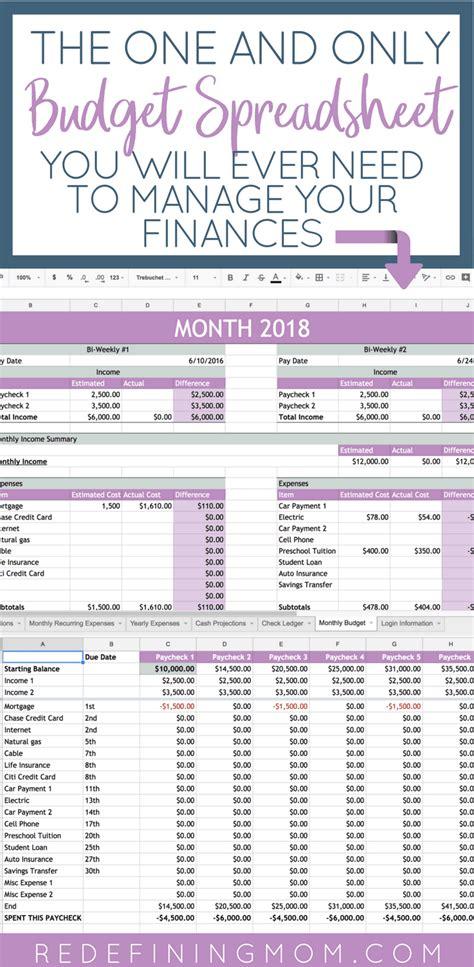 easy family budget spreadsheet   redefining mom
