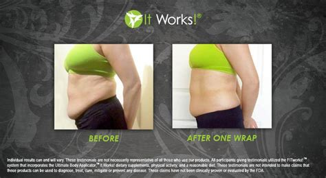 It Works Detox Wrap Side Effects by Before After Bodywrapping Lose Inches Fast It Works