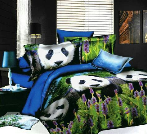 panda bedroom panda bedding set bed covers and sheets pinterest