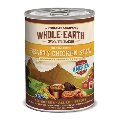 whole earth farms puppy food whole earth farms grain free hearty chicken stew canned