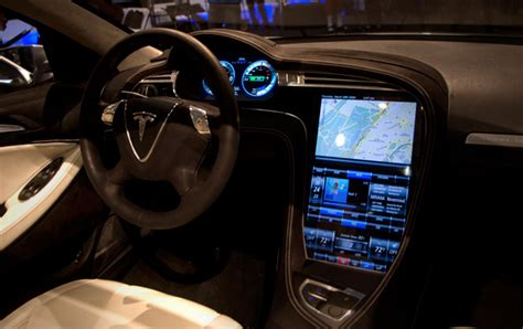 Tesla Interior Screen by Tesla Announce Model S Pricing