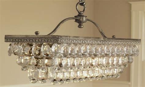 rectangular chandelier dining room rectangle glasses