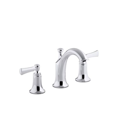 kohler widespread bathroom faucet shop kohler elliston polished chrome 2 handle widespread