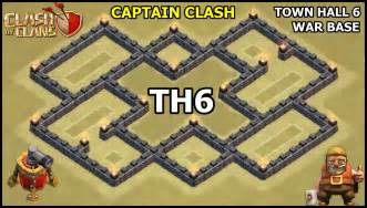 Clan war base defense coc th6 war base with air sweeper youtube