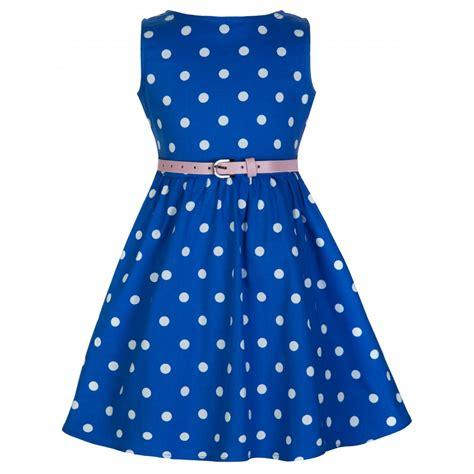 Audrey Blue Polka Swing Dress Vintage » Ideas Home Design