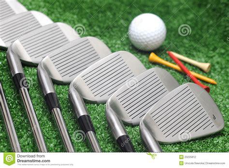 Set Og set og golf club and golf stock photo image
