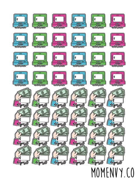 Budget Planner Stickers free budget planner stickers 11 printable pages of