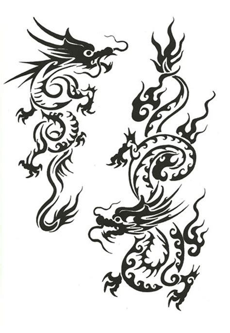 chinese dragon tattoo design simple ellenslillehjorne