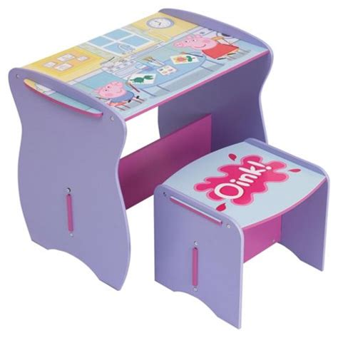 peppa pig chair tesco buy peppa pig desk stool from our desks tables range