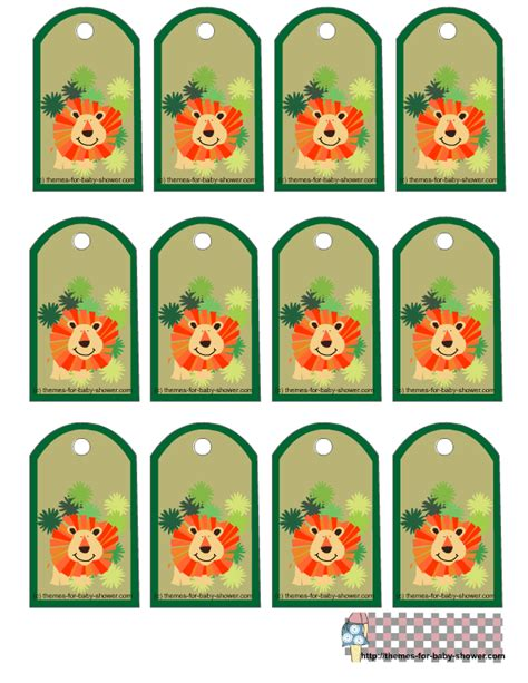 Baby Themes For Baby Showers by Free Printable Safari Baby Shower Favor Tags