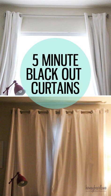 5 minute blackout curtains honeybear lane