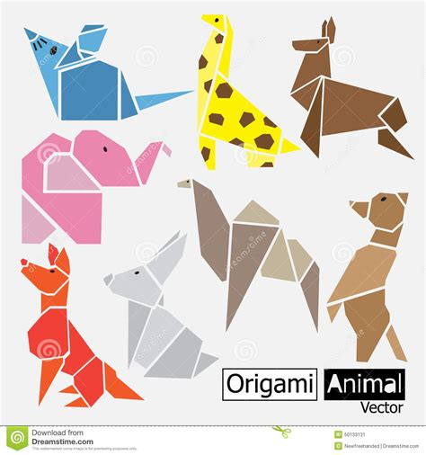 Animal Origami - origami origami paper all animal stock photo picture