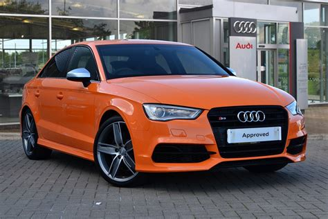 orange audi s3 which color do you think is best for the s3 saloon audi