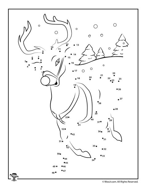 dot to dot christmas pictures reindeer connect the dots worksheet woo jr activities