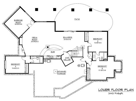basement floor plans craftsman house plan home plan 161 1042 the plan collection