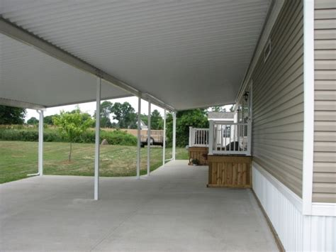 porch awnings for mobile homes mobile home carport porch and patio covers image