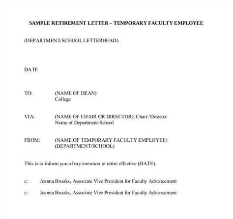 Resume Format For Retired Government Employees by Sle Retirement Letter Employer To Employee