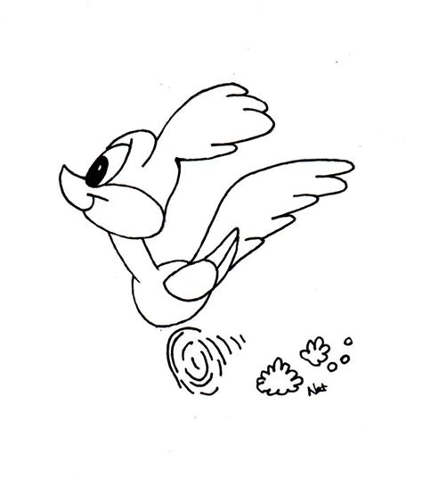 baby roadrunner coloring pages baby road runner by nat luvs on deviantart