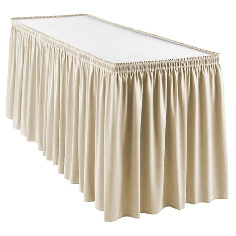 table drapes snap drape wyn1s1329 silcld wyndham 13 ft table skirt