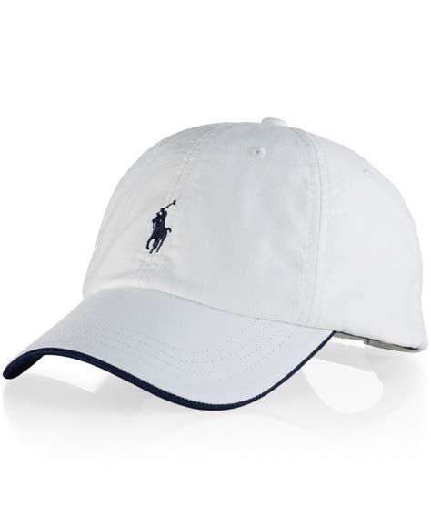 Polo Cap White polo ralph oxford heritage cap in white for lyst