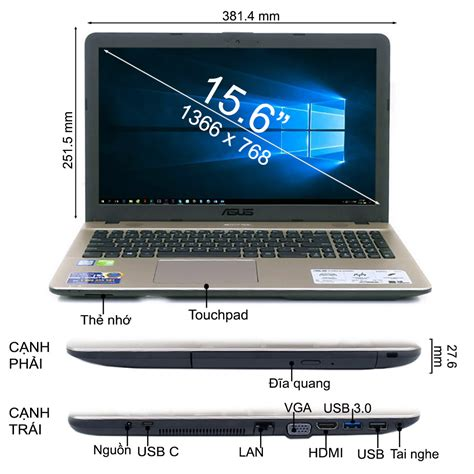 Laptop Asus I5 Skylake hcm laptop asus x541uv i5 6200u skylake 4g 500g 15 6in 2vga 2g gf920mx c 242 n bh l 226 u 13th