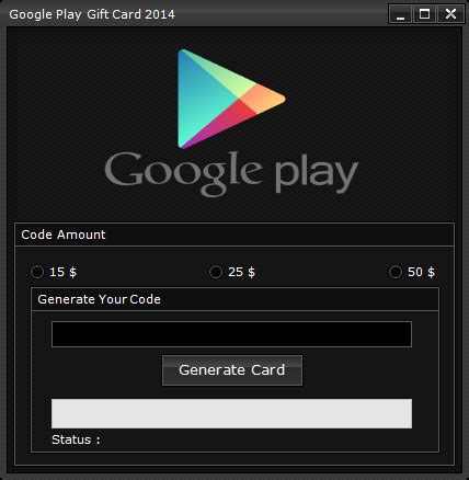 google play gift card code generator download - Gift Card Hack Software