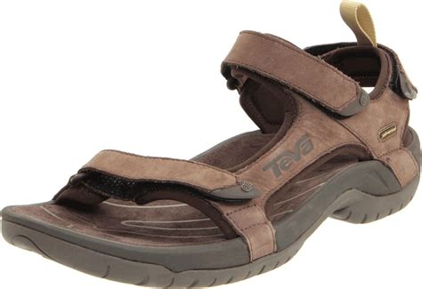 teva tanza leather sandals mens teva mens tanza leather sandal in brown for lyst