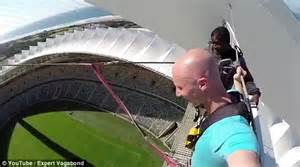 rope swing soccer video shows a daredevil swoop across moses mabhida stadium