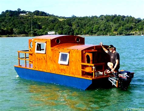 tiny house boat the flying tortoise tiny houseboat on wheels
