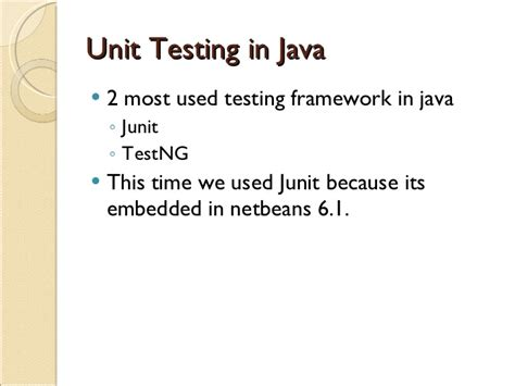 java unit testing with junit 5 test driven development with junit 5 books simple unit testing with netbeans 6 1
