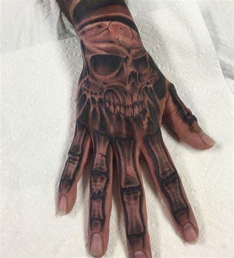 skull bone hand tattoo skull hand tattoos designs ideas
